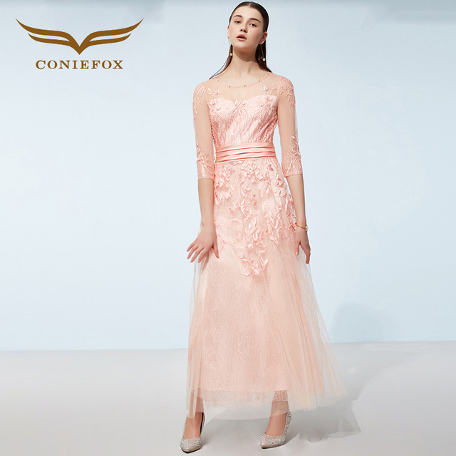 4b5500f3a35f Coniefox 38359 rosa blu fiore retrò sexy vestito sottile a-line elegante  principessa abito da