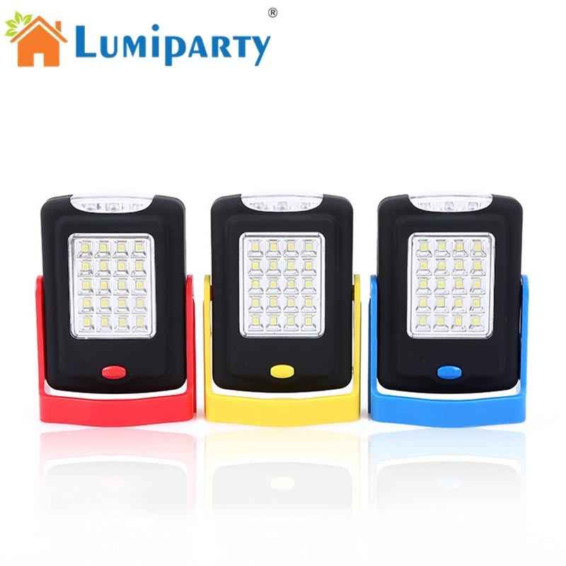 LumiParty 20+3 LED Lamp Portable Searchlight Camping Emergency Light Spotlight Flashlight for Outdoor Activities Magnet Holder