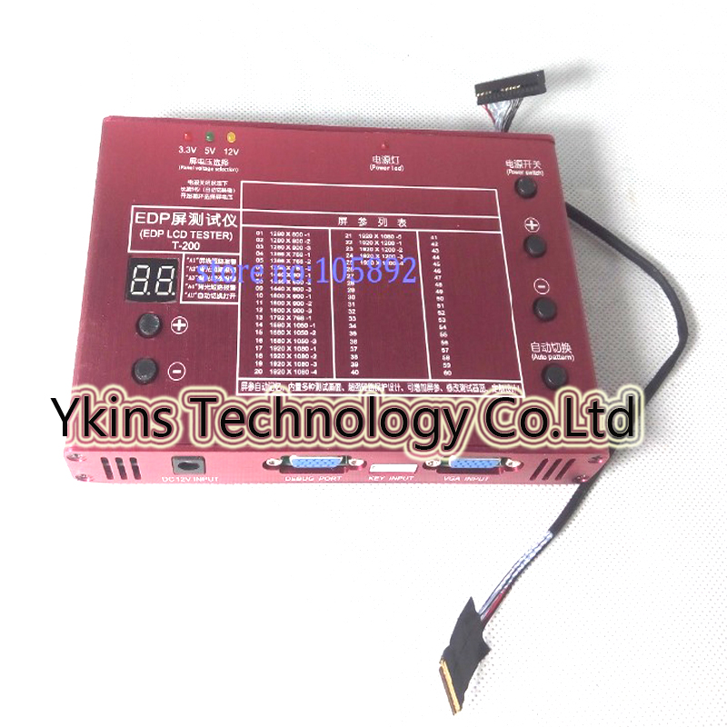 LCD EDP Panel Test Tool Universal EDP Signal test LCD panel tester kit tools 10 -27 Inch + 30 PIN EDP Screen test line cable