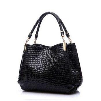 2017 Alligator PU Leather Women Bolsas De Couro Fashion Sequined Shoulder Bag Zipper Ladies Handbags Bolsas Femininas