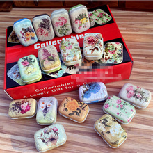 Caja de lata de Metal Vintage, Mini contenedor de caramelo de té, caja de almacenamiento de joyería de hierro, caja de regalo de píldora portátil, caja de regalo para decoración del hogar