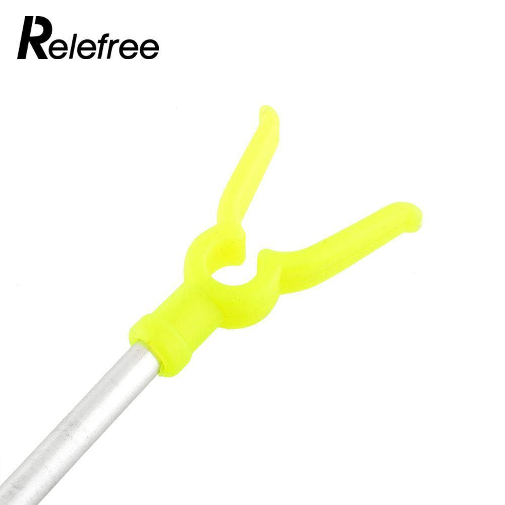 Relefree 2 Sections Aluminium Travel Angling Fishing Rod Pole Rack V Holder Support Stand Fish Tackle Fishing Accessories
