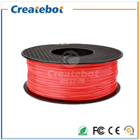 2016 Hot Sale Createbot Red 1.75mm ABS Filament Net Weight 1kg for DIY Model Great Performance