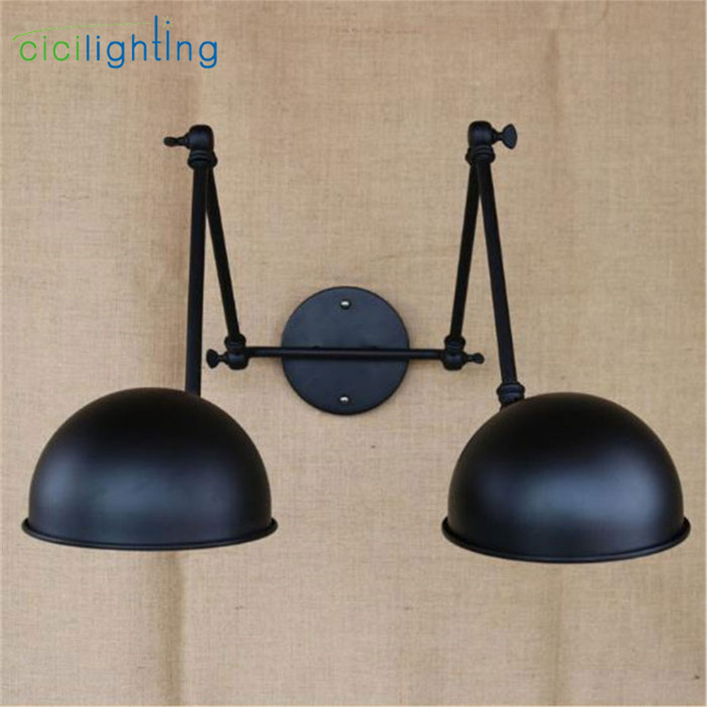 Free shipping American country industry lampshade wall lamps Vintage Industrial Wall Light Edison lamp-chimney luminariaFree shipping American country industry lampshade wall lamps Vintage Industrial Wall Light Edison lamp-chimney luminaria