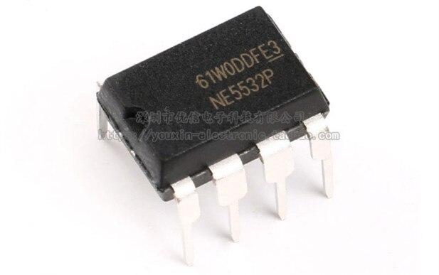 10Pcs NE5532P NE5532 DIP-8 Dual Low Noise Op-Amp TI IC NEW CA