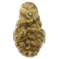 Soowee Long Wavy Braided Hair High Temperature Fiber Synthetic Hair Wigs Women's Party Cosplay Wig Hairpiece
