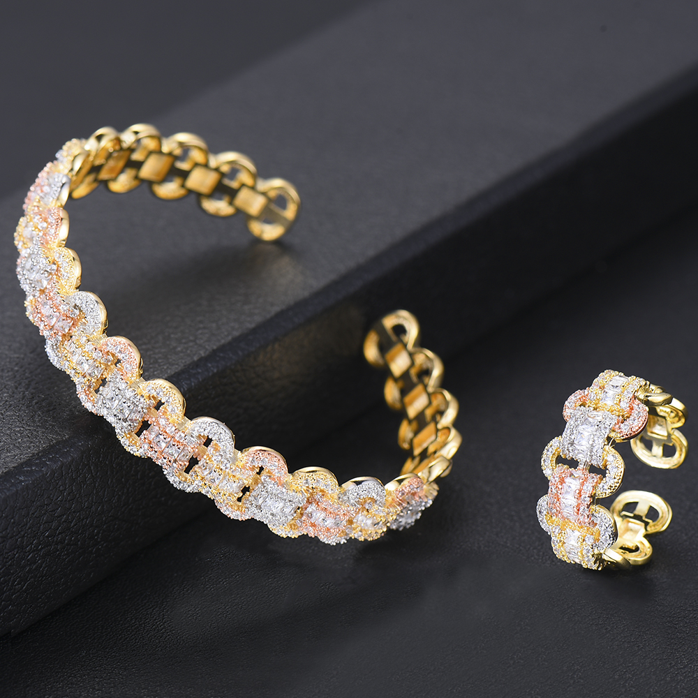 Image 5 - GODKI Luxury African Bangle Ring Sets Fashion Dubai White Bridal Jewelry Sets For Women Wedding brincos para as mulheres 2019Jewelry Sets   -