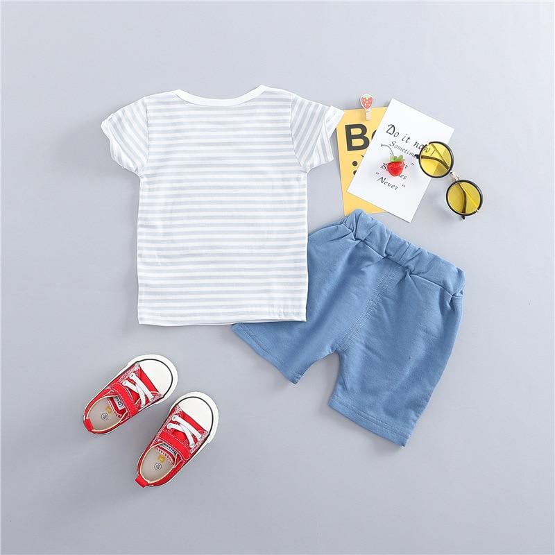 New Summer Baby Boys riided puuvillased särgid + püksid Rõivaste - Beebiriided - Foto 3