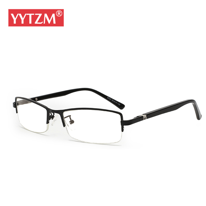 YYTZM Óculos homem de negócios de material de Titânio PURO óculos de armação  oculos de grau óculos homem óculos de leitura masculino c863b505c6