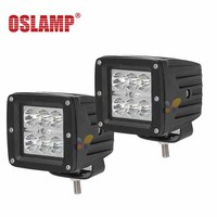 Oslamp 18w 3 LED Work Light Bar Flood Spot Offroad LED Driving Light For Jeep Ford