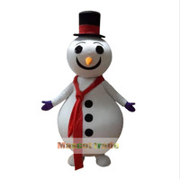 New Style Snowman For Christmas Mascot Costume Character Halloween Costumes Fancy Dress Suit Free Shipping