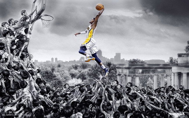 282 NBA Super Stars - Paul George Basketball MVP 22x14 Poster