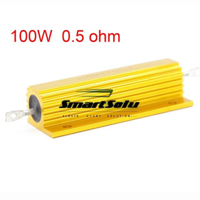 New 0.5 ohm 100W Watt Power Metal Shell Case Gold Resistor  цены