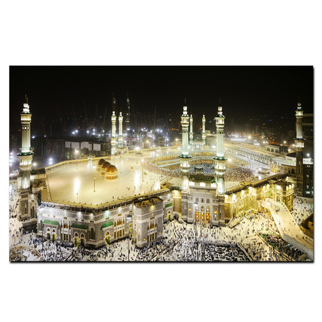 Big Size Hd Drukuj Mekka Swiete Architektura Krajobrazu Obraz Olejny