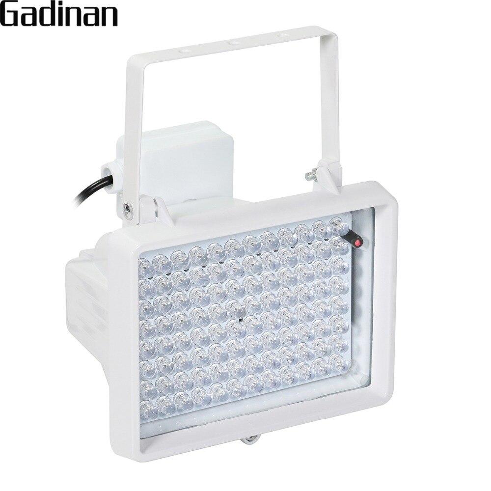 GADINAN 850nm infrarouge 96 pièces LED Vision nocturne étanche CCTV lumière de remplissage illuminateur pour intérieur extérieur CCTV caméra de sécurité