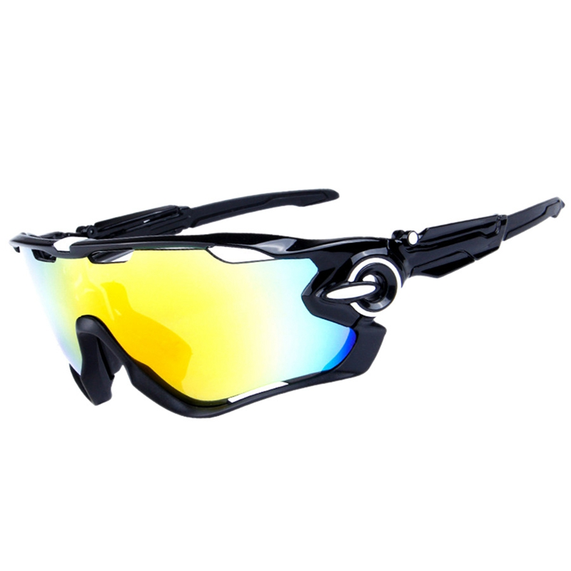 Obaolay New Design Big Frame Colorful Lens font b Sunglasses b font Outdoor Sports Cycling Bike