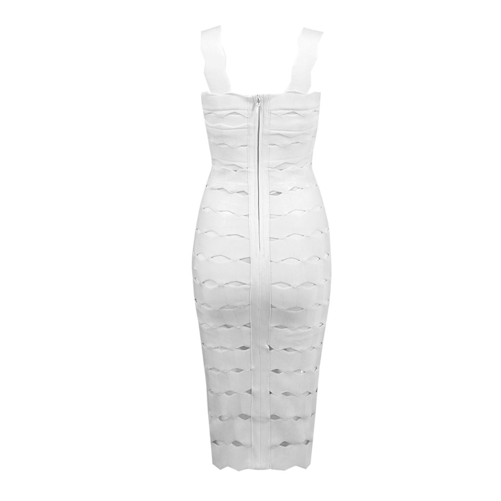 New Women Summer Hollow Out Jacquard Sexy Hot Bandage Dresses V neck Celebrity Patry Night Clubwears Patchwork Bodycon Vestidos in Dresses from Women 39 s Clothing