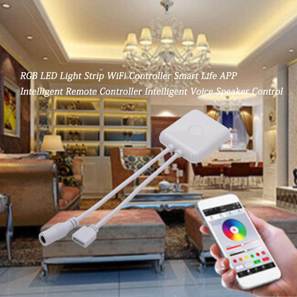 WiFi Led Controller DC 5-24V RGB LED Light Strip Controller Smart Life APP Remote Controller Intelligent Voice Speaker Control