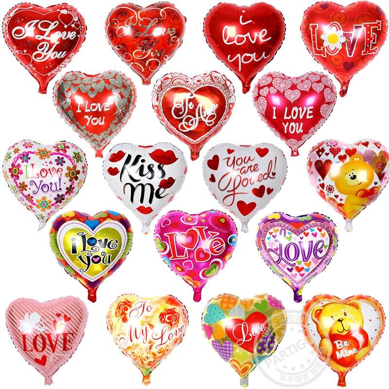 Balloon Lot Wedding 100pcs LOVE Love Mix I Balloons Aluminum Foil YOU Shaped 45 45cm Balloon Heart