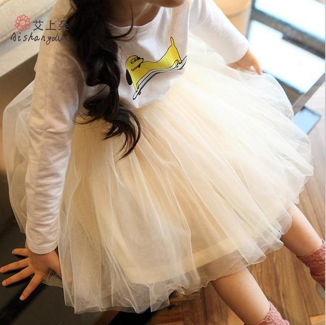 Розничная 1 шт. new2015 лето осень девушки юбка мода сетки принцесса девушка юбки балетной пачки для 2 ~ 7age детские детская одежда больше цвет