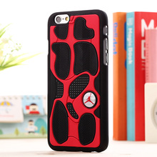 New Fashion Basketball Sportsman Jordan PVC Rubber Cover case for iphone 6 4.7/5.5 inch 3D Shoe Sole Rubber Case Free Shipping