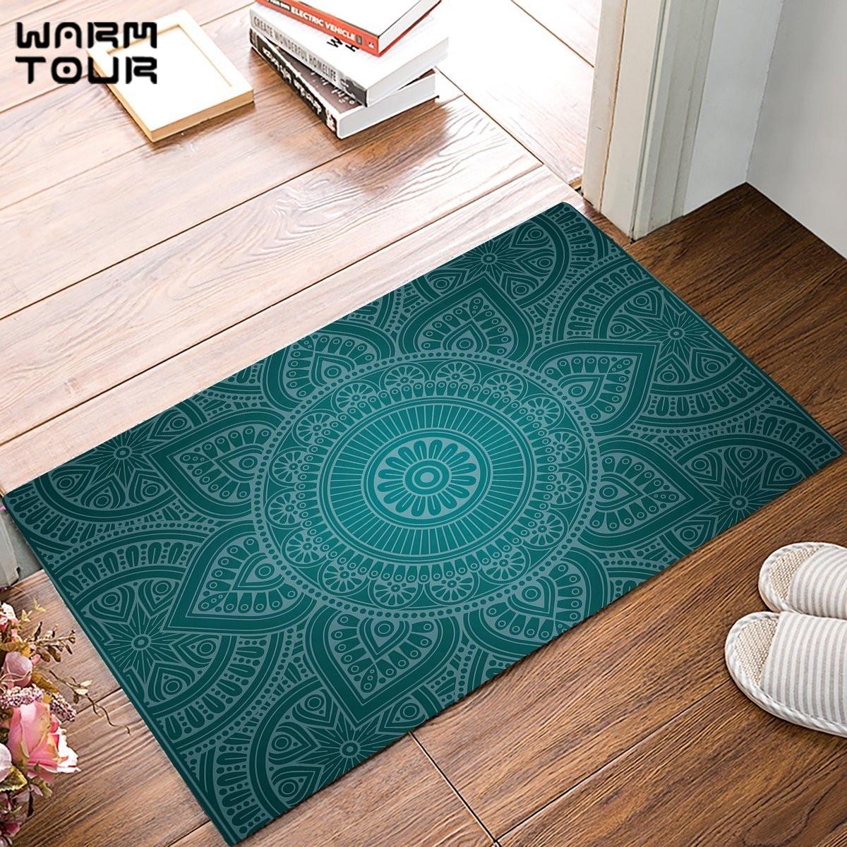 Vintage Mandala Decorative Pattern Door Mats Kitchen Floor