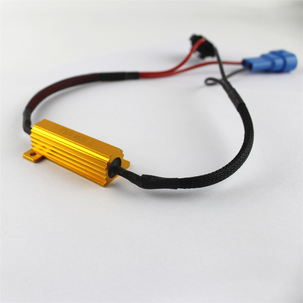 2x 9005 H10 Hb3 Led Fog Headlight Light Drl No Error Load Resistor Wiring Lights Harness Socket Flickering Decoder Warning Canceller