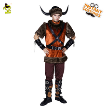 2018 Nykomst Viking Piratdräkt Halloween Party Masquerade Party Cosplay Viking Kläder Hot Sale Pirate For Adult Man