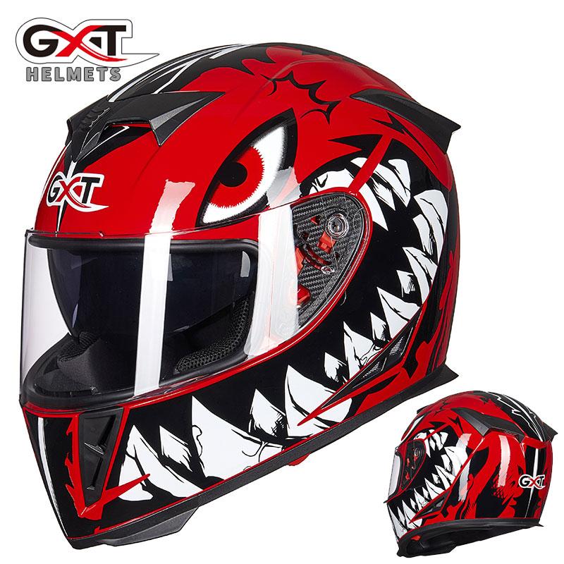 GXT NEW Genuine Full Face Helmets Winter Warm Double Visor Racing Motorcycle Helmet Casco Modular Moto Helmet Motorbike Capacete