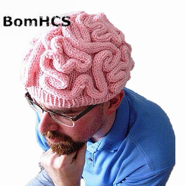 BomHCS Divertente Freddo Inverno di Personalità Orribile Cervello Cappello  di Lana Caldo delle Donne degli uomini 229ef5e9a856