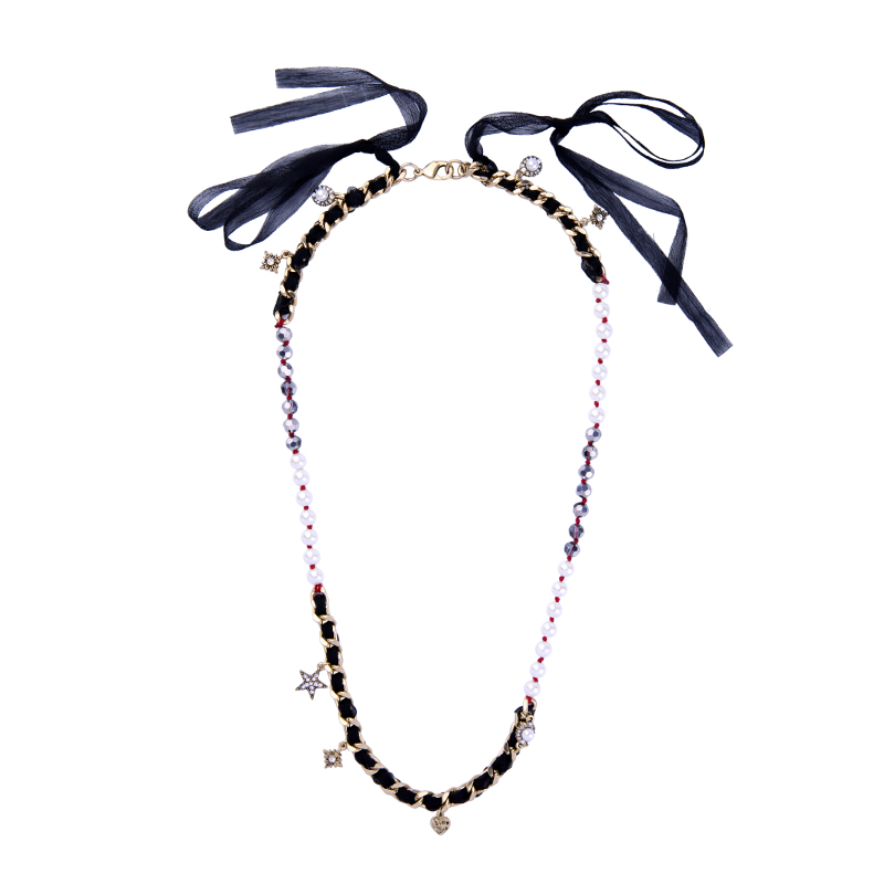 Bulk Price Bohemia Ribbon Acrylic Crystal Necklaces & Pendants 2017 Ethnic Long Chain Necklace For Women Indian Jewelry