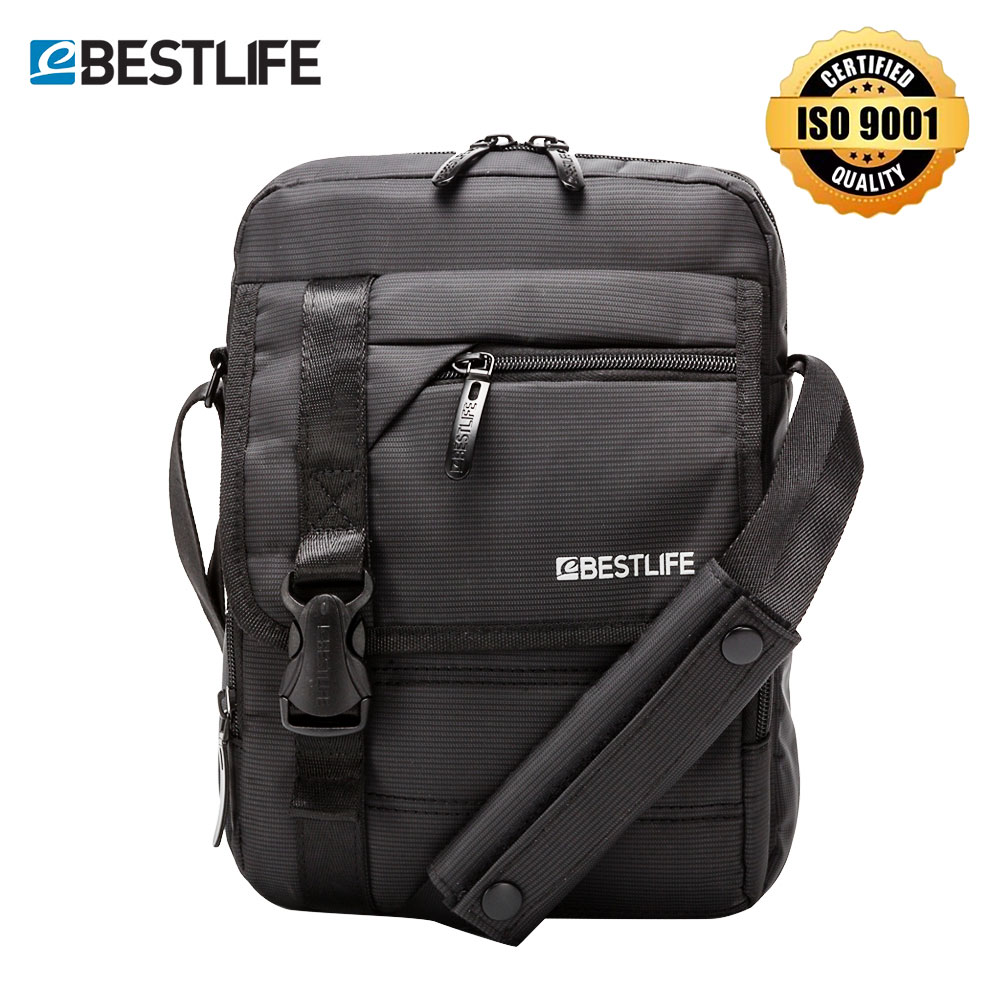 "BESTLIFE Men's Crossbody Bag 10.2"" Shoulder Messenger Bag Tablet Small Bag for Boy Men AntiTheft Portable Waterproof Handbag 6L"