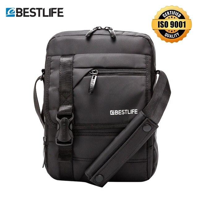 """BESTLIFE Men's Crossbody Bag 10.2"""" Shoulder Messenger Bag Tablet Small Bag for Boy Men AntiTheft Portable Waterproof Handbag 8L"""