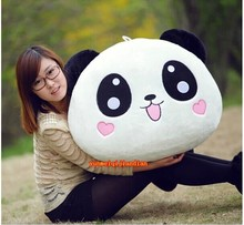 cute lovely huge panda toys lying plush panda toy panda with hearts on face toy soft doll birthday gift about 120cm