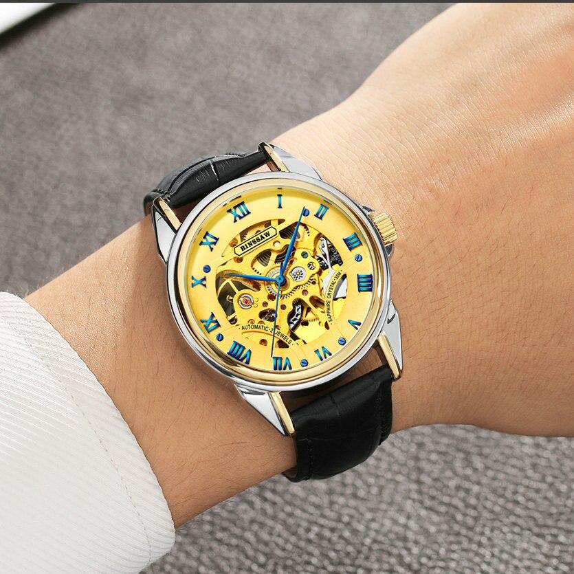 BINSSAW mados prabangos prekės ženklo vyrų laikrodžiai 2018 - Vyriški laikrodžiai - Nuotrauka 5