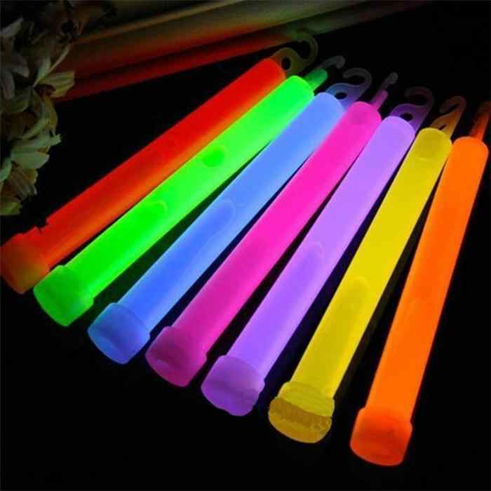 10Pcs Party Ceremony Glow Sticks Vocal Concert Gloeiende Stok Outdoor Camping Emergency Chemische Fluorescerende Licht 15.2Cm