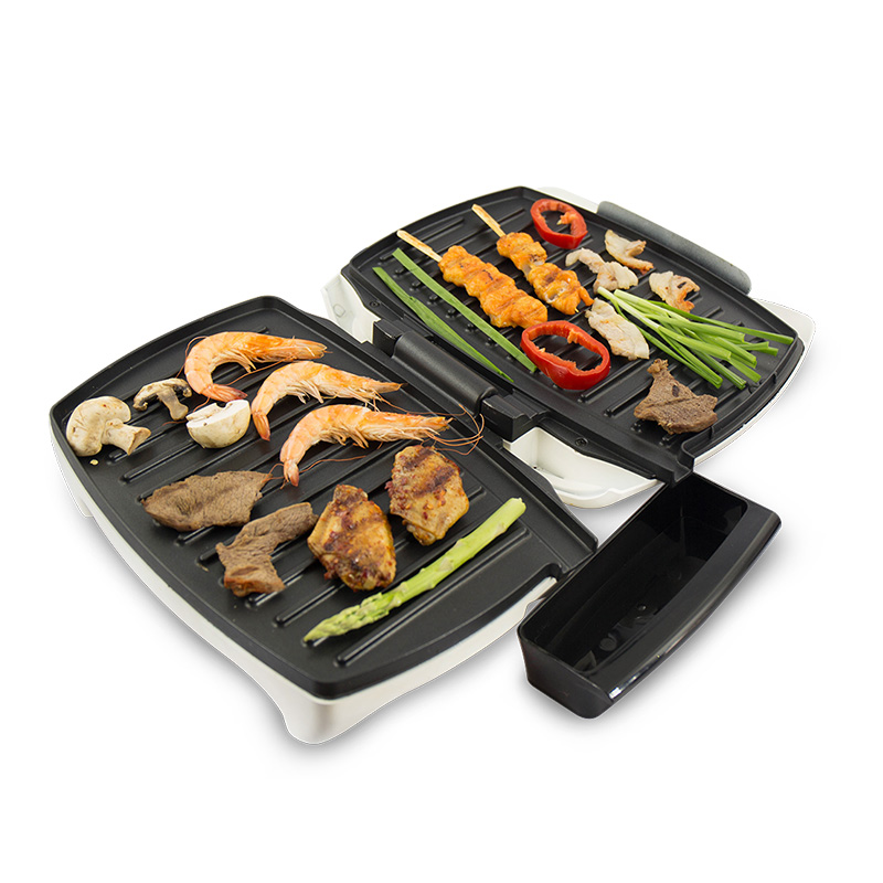 220V Multifunctional Barbecue Machine Smokeless Sticky Electric Oven Sandwich Machine Non-stick Electric Grill Machine