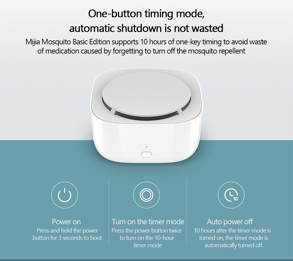 2019 New Xiaomi Mijia Mosquito Repellent Killer Smart Version Phone timer switch with LED light use 90 days Work in mihome AP (15)