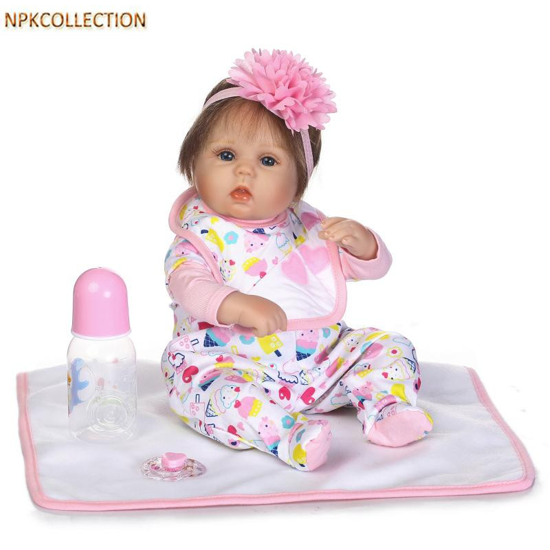 NPKCOLLECTION 15 Inch Handmade Silicone Reborn Dolls Real Dolls Baby Alive Soft Toys for Children Birthday Christmas Gifts silicone reborn dolls baby alive doll soft toys for children christmas gifts 15 inch real reborn babies bonecas newborn dolls