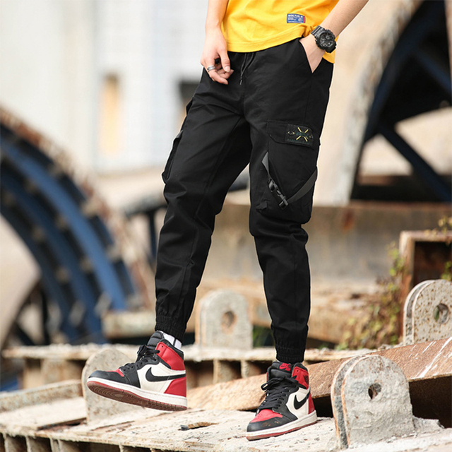 Cargo Sports Pants Joggers Men Trousers Male Streetwear Sweatpants Military Tactical Harem Casual Pants Mans Tracksuit Pant's
