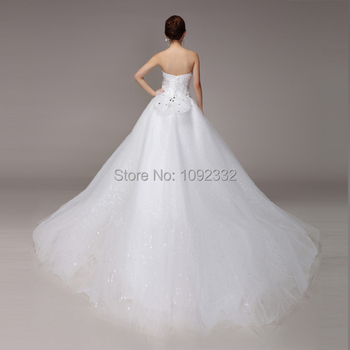 s 2016 new stock Winter plus size  women  Diamond Tube Top tailing princess lace bridal ball gown wedding dress