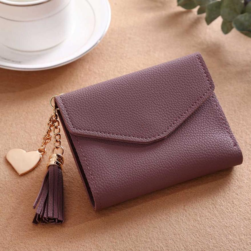 MOLAVE wallet new fashion Women Simple Short Tassel Coin Purse Wallet Card Holders Handbag wallet female famous jan6