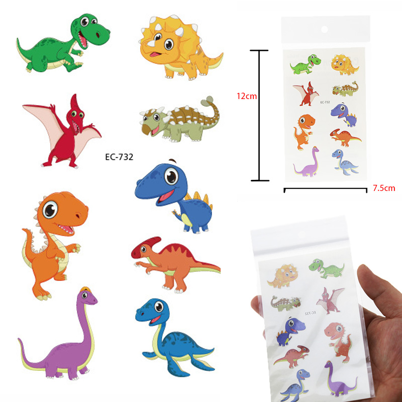 Dinosaurs Tattoo Stickers Children Birthday's Gift Fake Tattoo Kids Tatuajes Body Art Waterproof Temporary Tattoo Taty