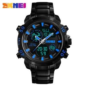 Image 3 - SKMEI Luxe Merk Heren Horloges Analoge Digitale Sport Quartz Horloge Mannen Militaire Waterdicht Klok Dual Tijd Casual Polshorloge