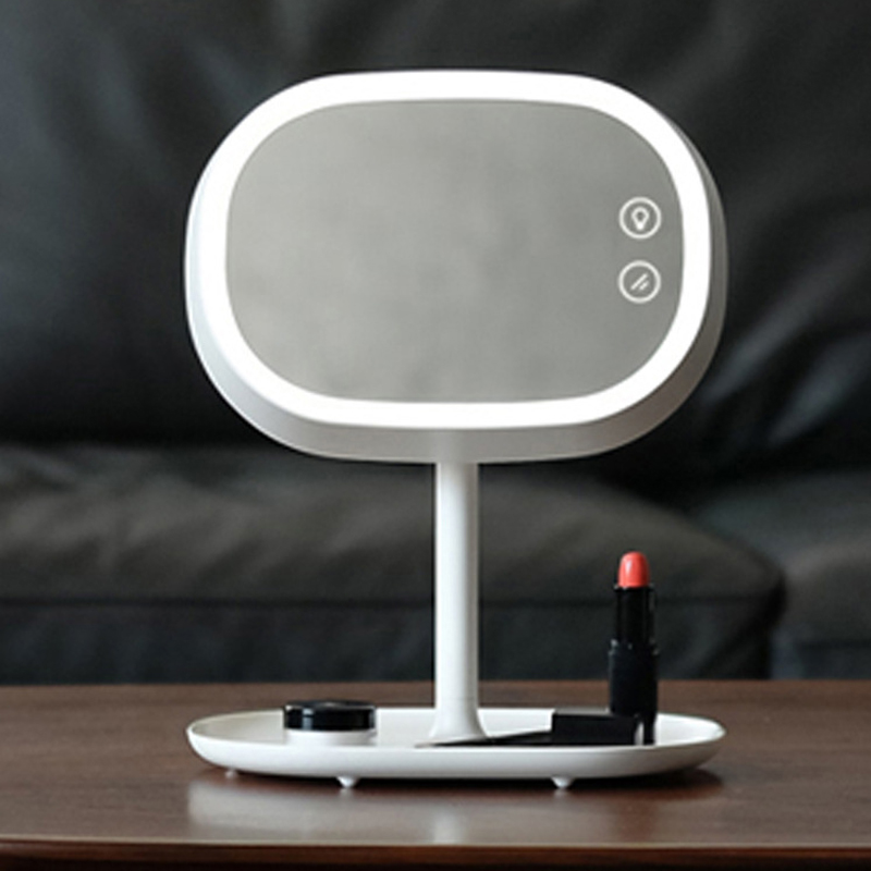 Touch Screen LED Makeup Mirror with Light Table Lamp Luminous 180 Rotating LED Light Desk Lighting Vanity Table Mirror heated mirror with light and demister anti fog mirror with led lightning and touch switch