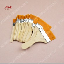 12Pcs Set nylon hair oil painting brush to clean up dust barbecue tools chese painting brush
