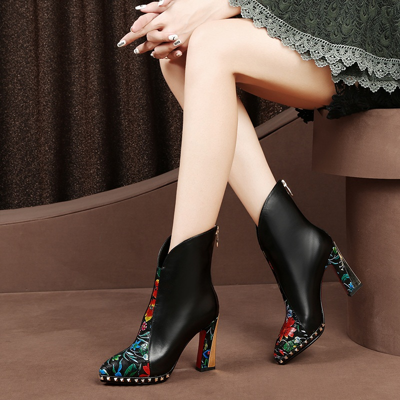verschluss chelleder mode high winter sexy frau schwarzrot neue schuhe echte stiefel Facndinll frauen starke rei partei kn warm heels herbst jLqMpGSUzV