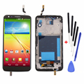 Black LCD Display Touch Screen Digitizer Assembly+Bezel Frame+Tools Replacements for LG Optimus G2 D802 D805,free ship+track No