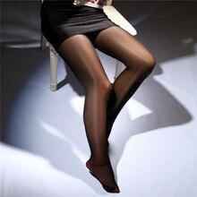 Модные Плотные сексуальные женские блестящие чулки, блестящие колготки для танцев, сексуальные колготки