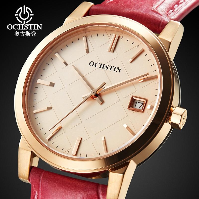 Women Genuine Leather Watches Fashion Luxury Sapphire Glass Quartz Watch Lady Casual Dress Watch Female Clock